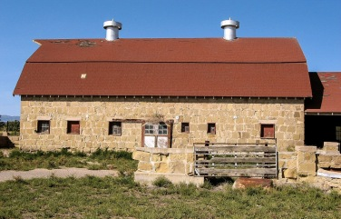 Stone barn at Holy Cross Abbey, Canon City, CO.