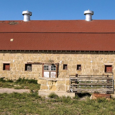 Stone barn at Holy Cross Abbey, Canon City, CO.