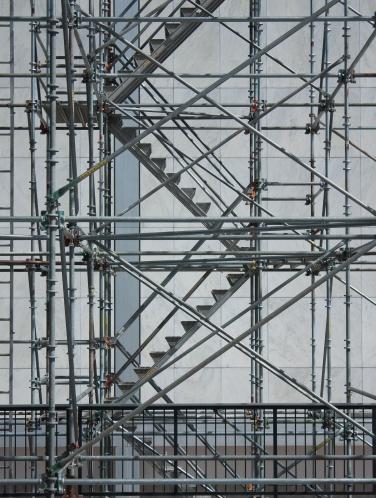 Scaffold stair mosaic, AFA.